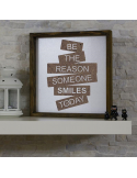 """bežthe reason someone smiles today"" dekorativna slika"