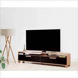 Box TV Komoda 180 cm Crna - dijamant dezen