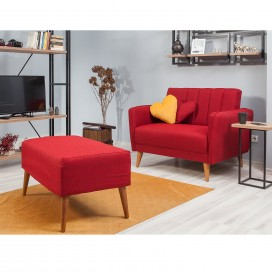 Loveseat sofa bordo