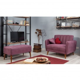 Loveseat sofa lila