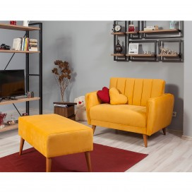 Loveseat sofa žuta